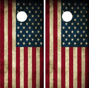 Cornhole Distressed American Flag Decal Wrap