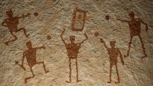 Ancient Cornhole Cave Drawing