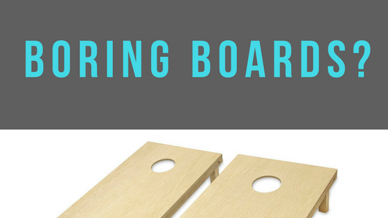 Customize your boring cornhole board with decals
