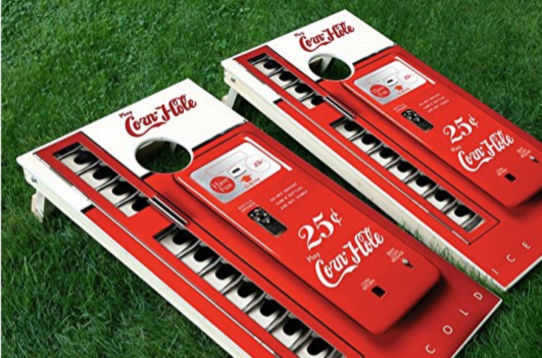 Superior Quality Fast Shipping! 24x48 Coca cola Cornhole Wraps 3M High Gloss Vinyl with Air Release