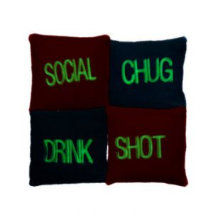 Embroidered Cornhole Bags Glow in the Dark