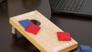 Tabletop cornhole bean bag game set