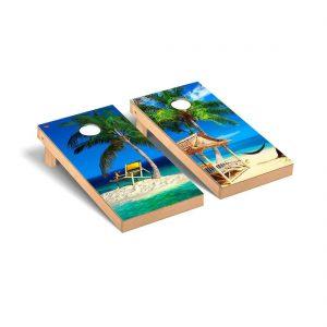 Cornhole Board Tropical Beach