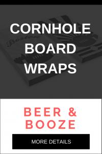 The Best Beer & Booze Cornhole Board Decal Wraps
