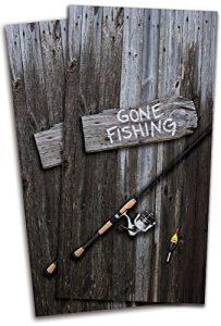 Gone Fishing Cornhole Board Vinyl Decal Wrap