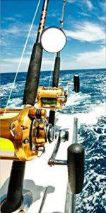 Deep Sea Fishing Cornhole Board Decal Vinyl Wrap