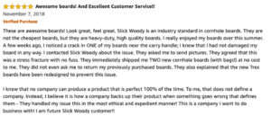 Slick Woodys Amazon Review of Customer Service
